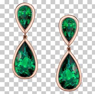 Emerald Earring Jewellery Gemstone Gold PNG