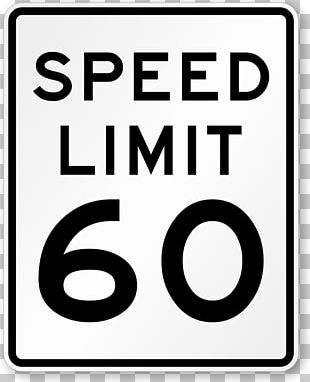 Speed Limit Traffic Sign Road Manual On Uniform Traffic Control Devices PNG
