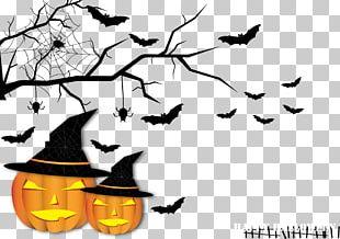 Halloween Bat Pumpkin PNG