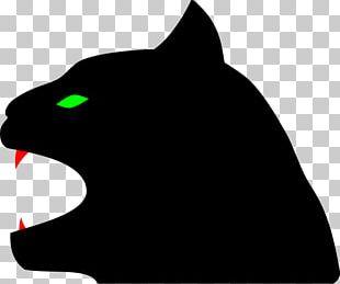 Black Cat Black Panther Kitten PNG