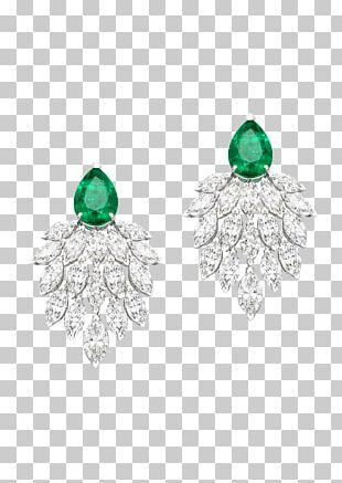Emerald Earring Jewellery Gemstone Diamond PNG