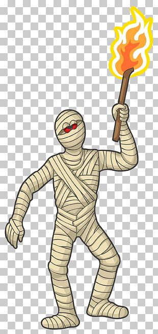 Mummy With Torch PNG