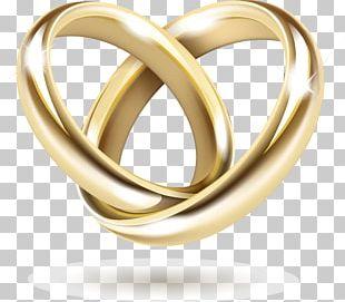 Wedding Invitation Gold Wedding Ring PNG