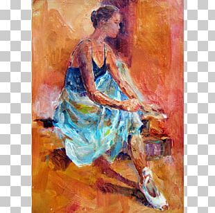 Woking Ballet Dancer Painting Art PNG