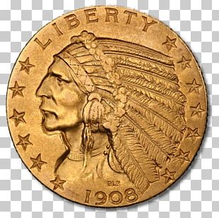 Indian Head Cent Penny Indian Head Gold Pieces Gold Coin PNG