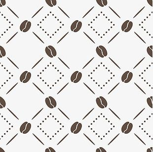Coffee Beans Background Pattern PNG