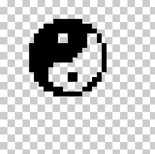 Pixel Art Minecraft Drawing Yin And Yang PNG