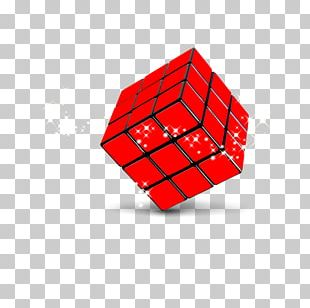 Rubiks Cube Red Puzzle PNG