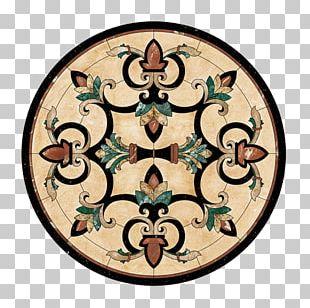 Floor Medallions Water Jet Cutter Mosaic PNG