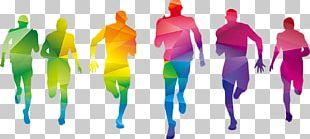 Color Fun Run Graphic Design Sport PNG