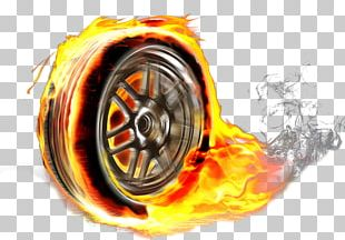 Car Tire Fire Wheel Spare Tire PNG