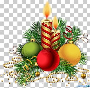 Christmas Decoration Christmas Ornament Candle Pine PNG