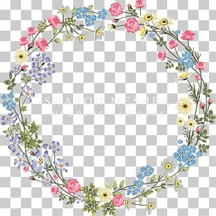 T-shirt Flower Wreath PNG