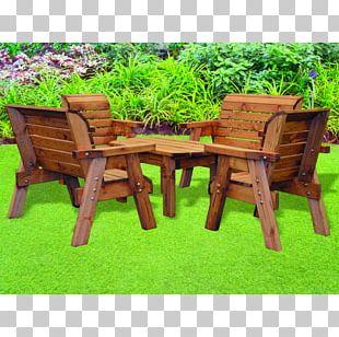 Garden Furniture Table Bench Garden Design PNG