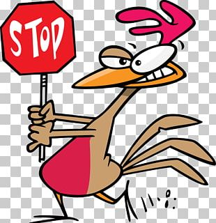 Chicken Stop Sign Cartoon PNG