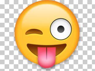 Emoji Sticker Wink Text Messaging Smirk PNG