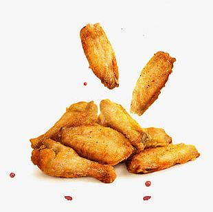 Golden Fried Chicken Wings PNG