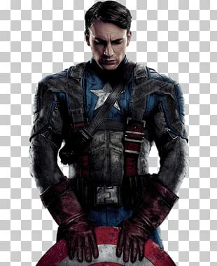 Captain America Front Thinking PNG