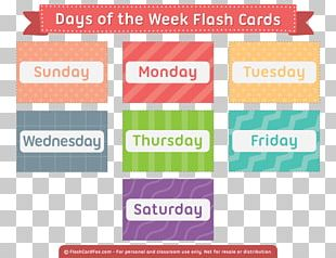 Flashcard Learning English Study Skills Names Of The Days Of The Week PNG
