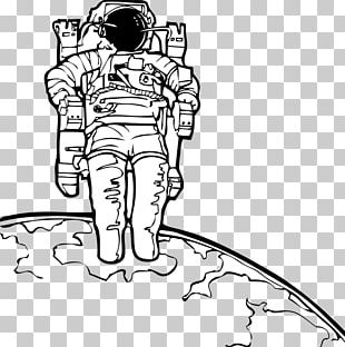 Astronaut Coloring Book Outer Space Drawing Space Suit PNG