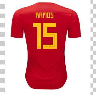 2018 FIFA World Cup Spain National Football Team T-shirt Atlanta Falcons Jersey PNG