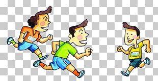 Running Cartoon Illustration PNG