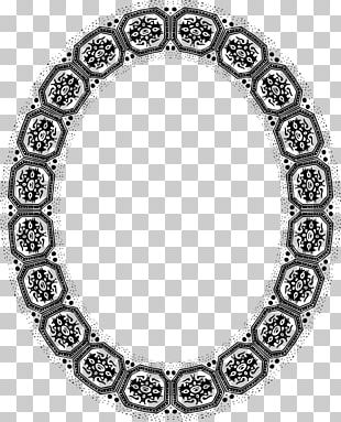 Silver Oval Frames Stock Photography PNG