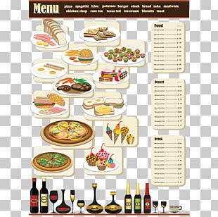 Fast Food Italian Cuisine Pizza Menu PNG