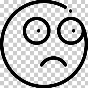 Smiley Line Art Circle White Font PNG