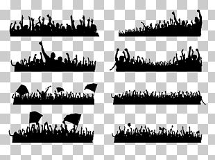 Audience Silhouette Crowd Performance PNG