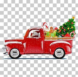 Santa Claus Christmas Tree Christmas Decoration Truck PNG