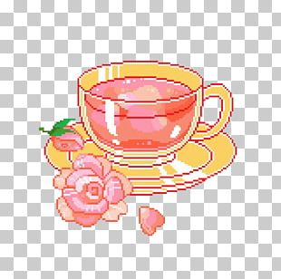 Teacup Pixel Art PNG