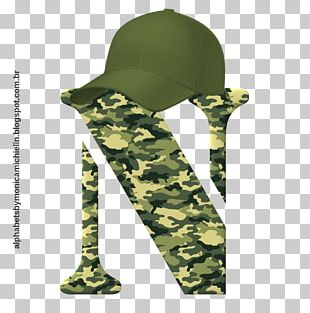 Military Camouflage Alphabet Letter PNG