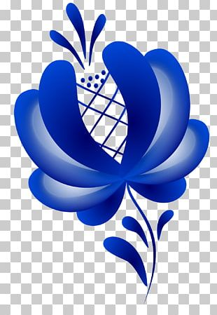 Ornament Gzhel Painting Folk Art Floral Design PNG