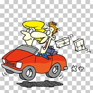 Cartoon Driving PNG
