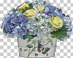 Blue Rose Hydrangea Floral Design Cut Flowers Flower Bouquet PNG