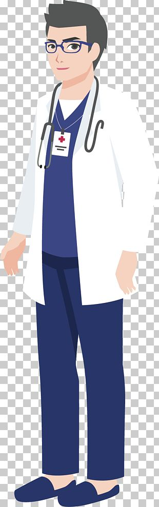 Cartoon Physician Illustration PNG