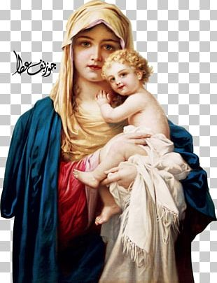 Mary Holy Family Child Jesus Madonna Holy Card PNG