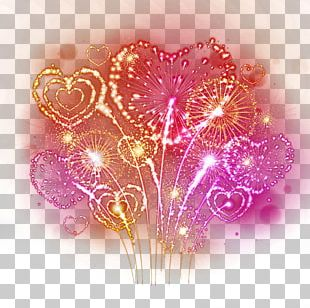 Fireworks Heart Photography Illustration PNG