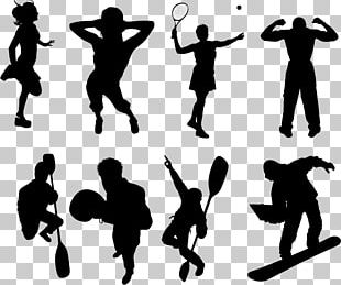 Silhouette Bodybuilding Physical Fitness Logo PNG