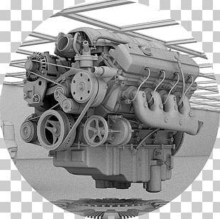 Engine Motor Vehicle Machine White PNG