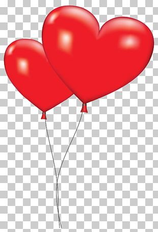 Gas Balloon Heart Valentine's Day PNG