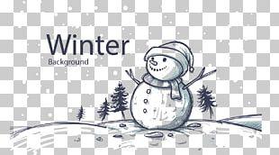Rudolph Christmas Card Santa Claus Snowman PNG