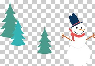 Christmas Tree Snowman PNG