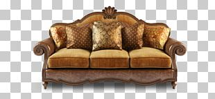 Couch Furniture Wing Chair Living Room PNG