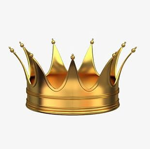 Pure Gold Crown Material PNG