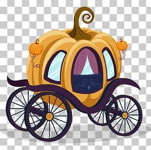 Cinderella Carriage Pumpkin Cartoon PNG