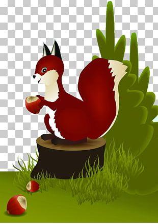 Jumping Squirrel Cartoon PNG