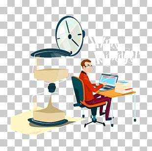 Cartoon White-collar Worker Illustration PNG