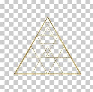 Golden Triangle Geometry PNG